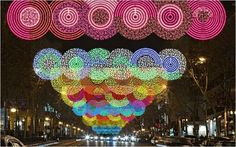 New designs for Madrid Christmas lighting, this by Teresa Sapey in Serrano Street.