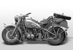 BMW R75 Year: About 1938 The R75 is a World War II-era motorcycle and sidecar combination produced by the German company BMW