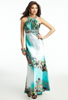 Pleated Halter Prom dress from Camille La Vie and Group USA | PROM ...
