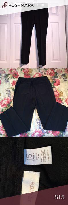 Chicos black denim jeggings Short length. Slim leg. Very cute with flats. Chico's Jeans Straight Leg