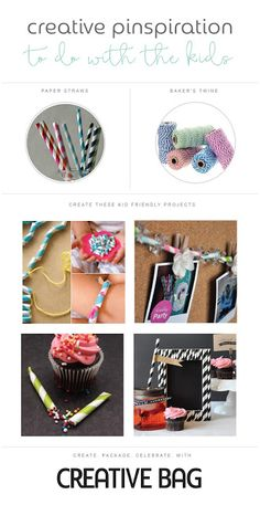 Creative Pinspiration to do with the kids using baker's twine and paper straws