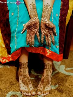 The ever popular Heart pattern by Henna Lounge. Master Henna artist Darcy is available travel for your destination wedding events in California, Mexico, Central American and Europe. Henna Lounge makes and uses only 100% natural henna paste. Pricing begins at $125/hour. Contact her at 415-215-6901 or info@hennalounge.com. Indian Weddings Inspirations. http://pinterest.com/HennaLounge/