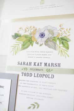 Behind the Invitation: A Botanical Wedding Suite from Lana's Shop  Read more - http://www.stylemepretty.com/2013/08/07/behind-the-invitation-a-botanical-wedding-suite-from-lanas-shop/