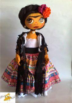 Frida Inspired Doll