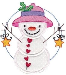 Snow Cuties 2 Applique - 2 Sizes! | Winter | Machine Embroidery Designs | SWAKembroidery.com Bunnycup Embroidery