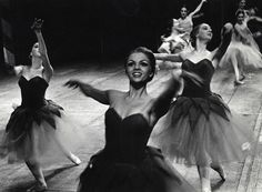 "Dancers in the ""Waltz of the Flowers"" in Lew Christensen's Nutcracker, 1966."