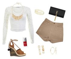 """""""🍸🌞💋"""" by xofashionismylovexo ❤ liked on Polyvore featuring American Apparel, Miss Selfridge, Aquazzura, Nadri, Christian Dior, Rebecca Minkoff, Forever 21 and Yves Saint Laurent"""