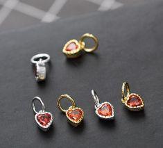 Charm Jewelry, Pendant Jewelry, Silver Jewelry, Jewelry Necklaces, Tiny Heart, Heart Charm, Heart Bracelet, Heart Earrings, Drop Earrings