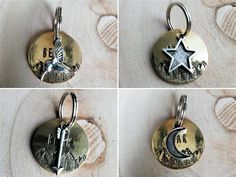 Custom Dog Id Tag and Charm, 'Mountain Forest' Dog Tag with a Silver Charm, Dog Name Tag, Custom Collar Tag, Unique Dog Tag Dog Name Tags, Dog Id Tags, Pet Tags, Custom Dog Tags, Personalized Dog Tags, Selling Handmade Items, Pet Collars, Dog Names, Metal Stamping