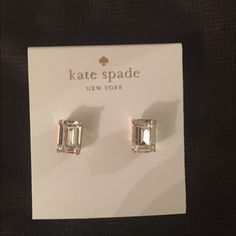 Kate Spade Earrings New Authentic Kate Spade Earrings  Color: Clear/Gold No free shipping  No trades  Price is Firm  Dust bag included kate spade Jewelry Earrings