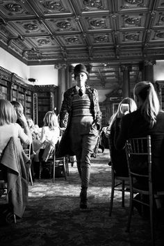 Ralph Lauren recently held a private fashion show the event at Highclere Castle where the TV series Downton Abbey was filmed.    Photography by Chris Allerton courtesy of Ralph Lauren.