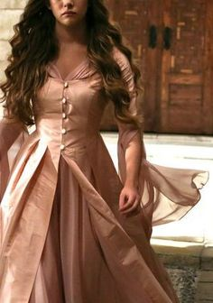 Costumes: Dresses & Gowns – Love the same colour for the dress and overcoat - mittelalter kleider - Pretty Dresses, Beautiful Dresses, Princess Aesthetic, Pink Gowns, Fantasy Costumes, Fantasy Dress, Medieval Dress, Costumes For Women, Costume Design
