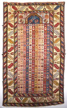 Shirvan Rug early 19 th century size cm Iranian Rugs, Affordable Rugs, Aztec Rug, Prayer Rug, Textiles, Magic Carpet, Large Rugs, Carpet Design, Persian Rug
