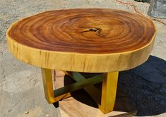 Live Edge Furniture, Tree Furniture, Reclaimed Wood Furniture, Rustic Furniture, Bespoke Furniture, Live Edge Table, Live Edge Wood, Coffee And End Tables, Round Coffee Table