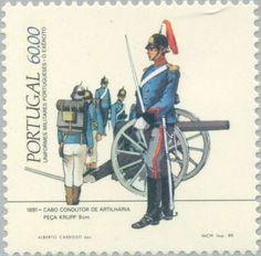 Sello: Uniforms (Portugal) (Uniformen) Mi:PT 1647A,Sn:PT 1615,Afi:PT 1685