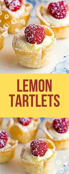 Lemon Tartlets - House Recipes & Home Decor Lemon Dessert Recipes, Lemon Recipes, Tart Recipes, Cupcake Recipes, Baking Recipes, Cupcake Cakes, Cupcakes, Yummy Treats, Delicious Desserts