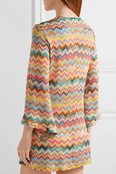 Missoni - Mare Lace-up Crochet-knit Mini Dress - Orange - IT