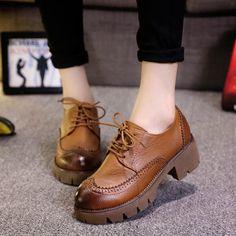 Aliexpress.com: Comprar 2015 recién llegado de mujeres zapatos de tacón grueso para mujer Martin botas con cordones de tres colores elección botas para mujeres caen el envío XWX3564 de las niñas zapatos botas fiable proveedores en Charm keep