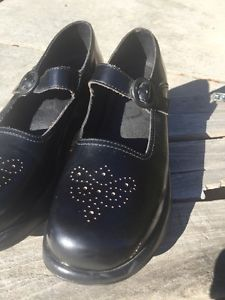 Dansko Jade Womens 42 Black Leather Mary Jane Platform Clogs Shoes | eBay