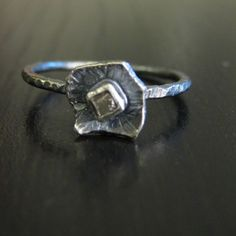 *flowery uncut diamond and silver