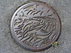 Kamiishizu town, Gifu pref manhole cover