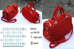 Crochet bags and purses - pattern