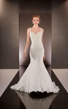 sleeveless mermaid elegant structured beaded lace wedding dress