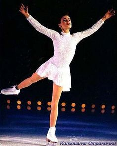 Katia Gordeeva, White Figure Skating / Ice Skating dress inspiration for Sk8 Gr8 Designs