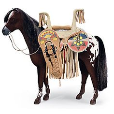 American Girl® Accessories: Kaya's Horse, Saddle, Doll and Cradleboard
