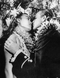 "Marlon Brando with Tarita in ""Mutiny on the Bounty"" (1962)"