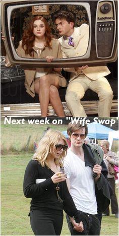 Next week on wife swap..just, weird...