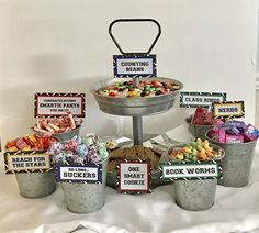 A personal favorite from my Etsy shop https://www.etsy.com/listing/224241196/graduation-candy-signs-set-of-3-candy
