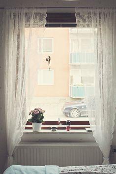 Lace curtains. #lace #curtains