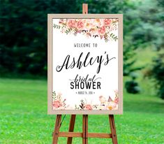 Bridal Shower Welcome Sign Bridal Shower sign Bridal by aquariusds