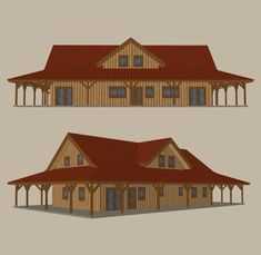 predesigned barn home kit 8 ponderosa country barn 3d home model rendering