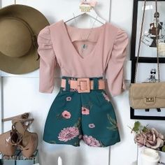 Teen Fashion Outfits, Girly Outfits, Short Outfits, Trendy Outfits, Summer Outfits, Cute Outfits, Belted Shorts Outfits, Dress Outfits, Curvy Girl Fashion