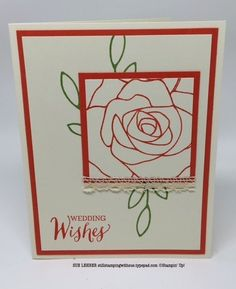 Handmade card using the Rose Wonder Stamp Set from Stampin' Up!