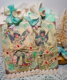 DIY: Visions of Sugarplums - Ornaments or Gift Tags