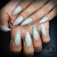 Dangerous  fresh nails for this hottie @neety__x_x xx #getbuffednails #nails #nailart #notd #instanails #ignails #grey #graypolish #gellyfit #gelpolish from @gellyfitaustralia  #nailtech #melbournenailart #acrylicnails #glitter #sparklynails