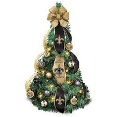 New Orleans Saints Christmas Tree