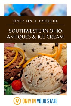 Visit a giant antique mall with all sorts of vintage treasures and enjoy the best ice cream in Southwestern Ohio on this day trip - it's perfect for summer! Banana Boats, Best Bucket List, Dairy Free Treats, The Buckeye State, Ice Cream Treats, Best Ice Cream, Soft Serve, Natural Wonders, Day Trip