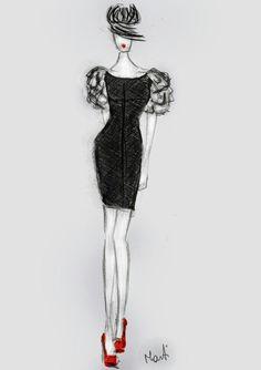 Little Black Dress.....♡□Sketch Version::