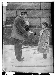 Letter for Santa Claus. Old Photo from the Library of Congress Collection Christmas Post, Vintage Christmas, Christmas Cards, Merry Christmas, Old Photos, Vintage Photos, Vintage Photographs, Post Bus, You've Got Mail