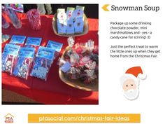 #PTAsocial #xmasfairideas - snowman soup. See them all at https://www.ptasocial.com/christmas-fair-ideas/