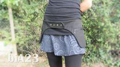 HiP BAG // Fanny pack // Belt bag // Unisex // Adjustable // Anthracite black denim