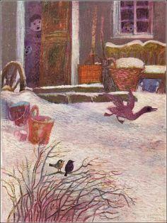 The Ugly Duckling/ Hans Christian Andersen/ Abelard-Schuman Ltd, 1973. Artist: Josef Paleček