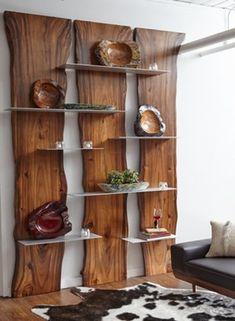 Wall Shelf Made of Suarina Root Wood / Natural Finish / Aluminum Shelves - Rega. - Wall Shelf Made of Suarina Root Wood / Natural Finish / Aluminum Shelves – Regal Holzbohlen – - Diy Furniture Plans, Home Decor Furniture, Rustic Furniture, Diy Home Decor, Furniture Design, Room Decor, Natural Wood Furniture, Rustic Wood Decor, Modern Furniture