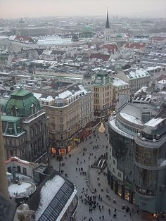 An aerial view of Vienna. Vienna, the capital of Austria, lies in the country's east on the Danube River. Its artistic and intellectual legacy was shaped by residents including Mozart, Beethoven and Sigmund Freud. The city is also known for its Imperial palaces, including Schönbrunn, the Habsburgs' summer residence. In the MuseumsQuartier district, historic and contemporary buildings display works by Egon Schiele, Gustav Klimt and other artists. (V)