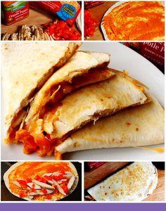 Back to School recipes Spicy Chipotle Cheddar Veggie Chicken Quesadillas