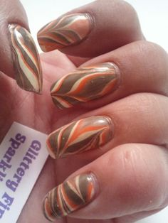 Glittery Fingers  Sparkling Toes: Thanksgiving Water Marble